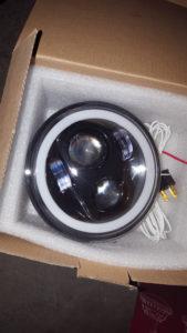 5 3/4″ LED koplamp insert, Halo led ring. Stads, groot, dimlicht Ekeur
